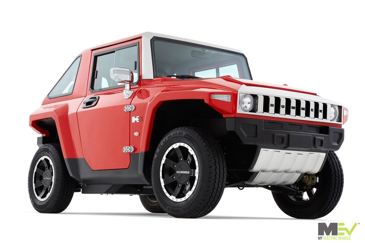 The Electric Mini Mev Hummer Hx In Flat Red Mev Hummer Hx