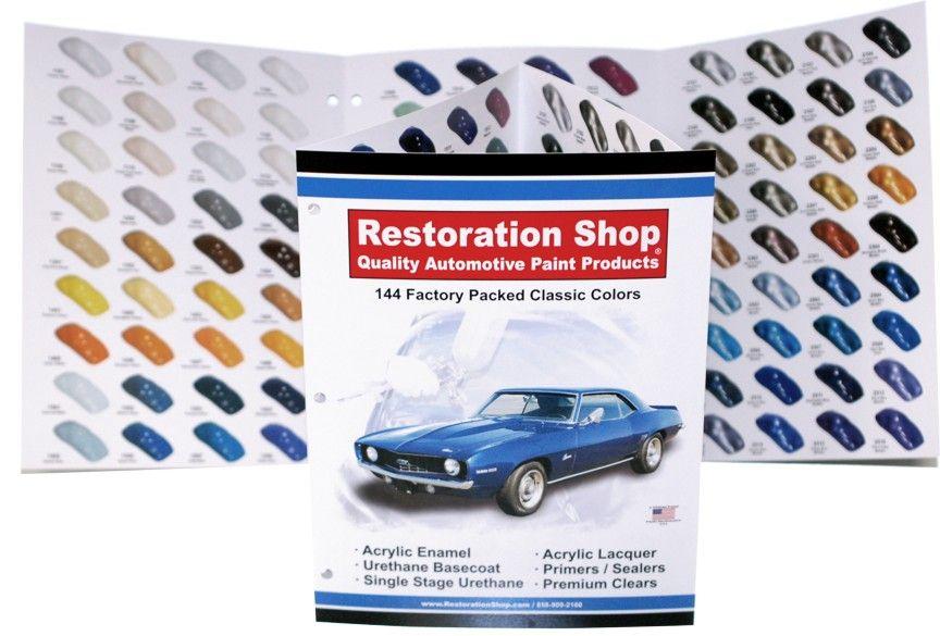 144 CLASSIC CAR COLORS CHART RESTORATION SHOP PAINT