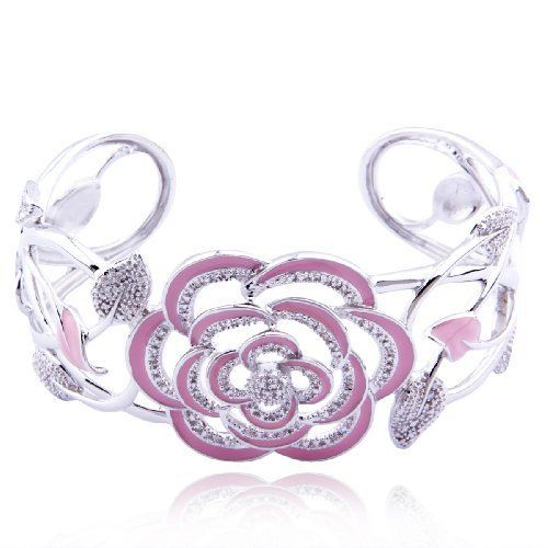 Sterling Silver Diamond-Accent Rose Cuff Bracelet Amazon Curated Collection, http://www.amazon.com/dp/B0031U07V8/ref=cm_sw_r_pi_dp_JE2Xqb0CVQC87
