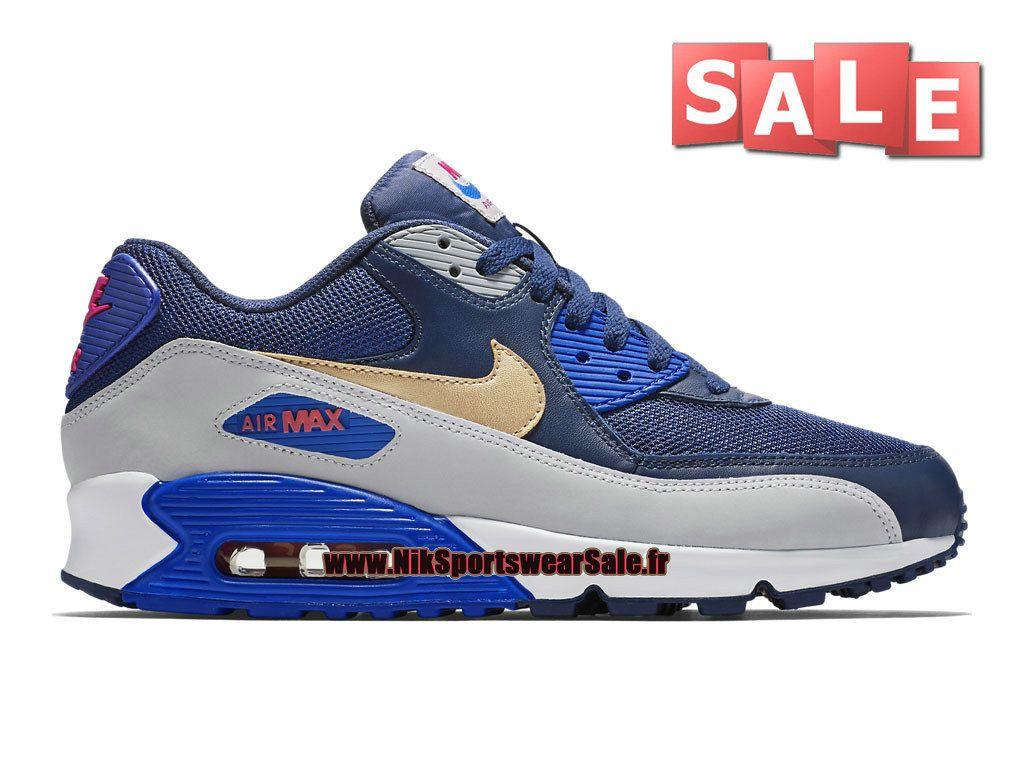 various colors cc99d bdaa4 Nike Air Max 90 - Chaussures Nike Sportswear Sale Pour Homme Bleu  spatial Cactus…