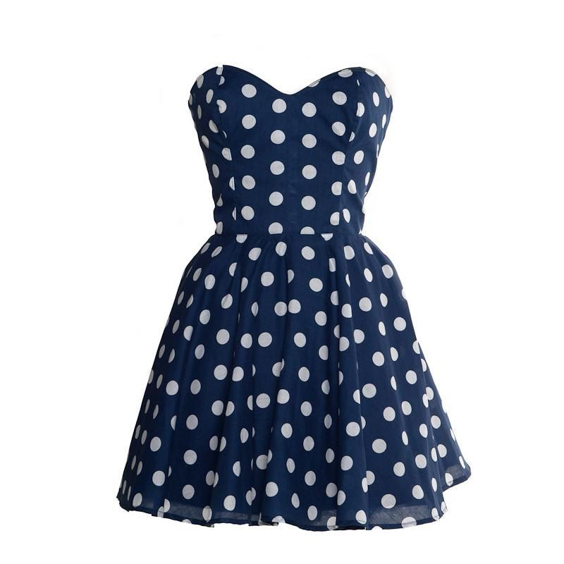 50s Style Polka Dot Prom Dress As Seen In MORE Magazine. £37.00, via ...