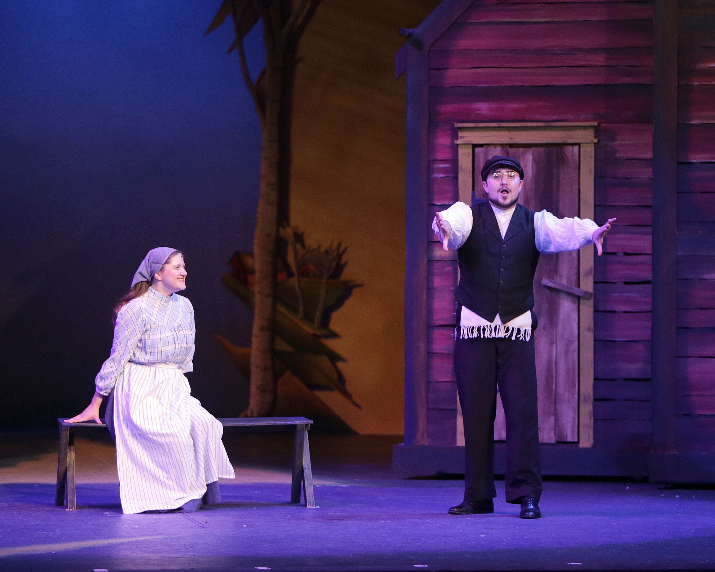 Marie Schmidt As Tzeitel And Shawn Smith Jones As Motel Fiddler On The Roof Broadway Musicals Musicals