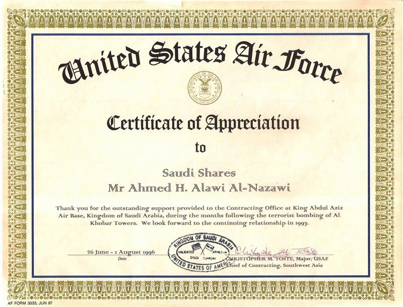 Air Force Certificate Of Appreciation Template Beautiful Af Form 3033 Certificate Appreciation Flowersh Certificate Of Appreciation Letter Example Appreciation