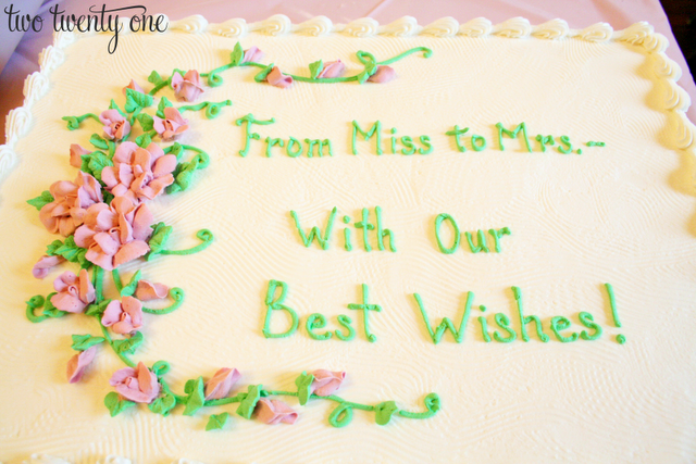 from miss to mrs with our best wishes bridal shower cake sayings wedding shower