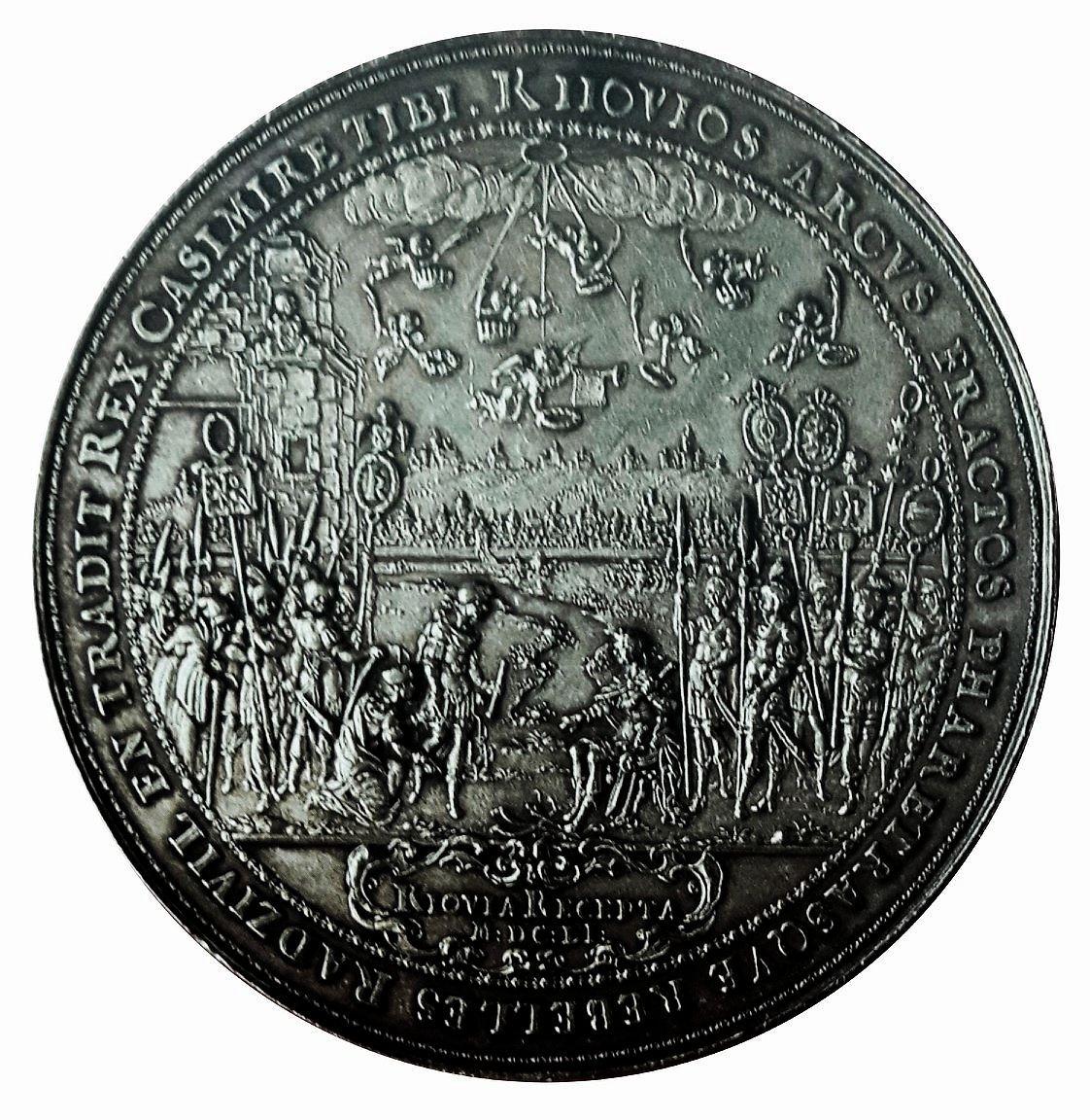 Medal with homage of Kiev to king John II Casimir Vasa by Sebastian Dadler 1651 Royal Castle in Warsaw  Marcin Latka