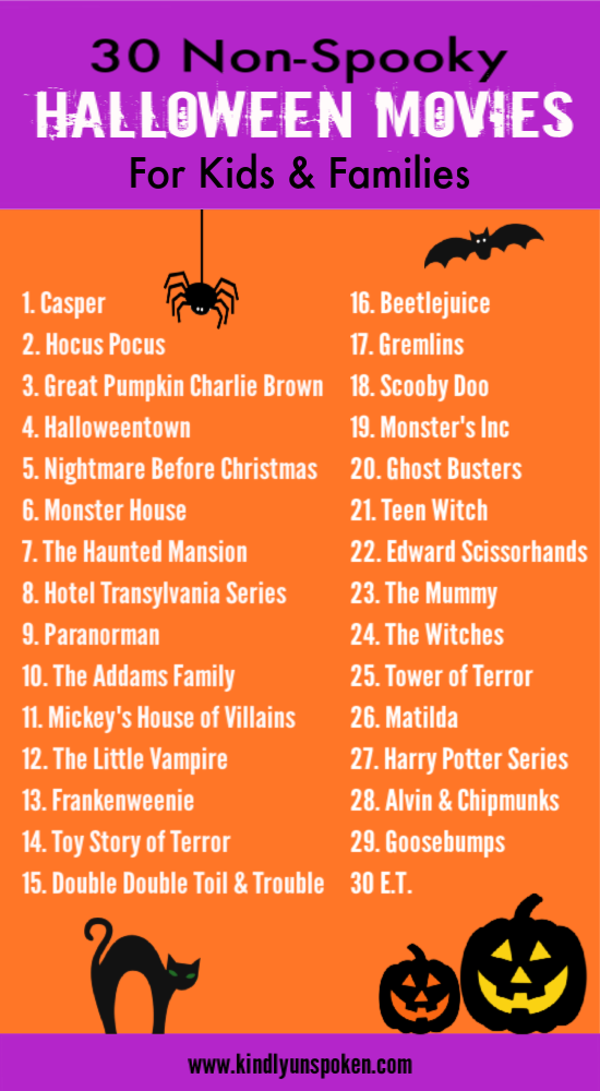Check out this nonspooky list of halloween movies for