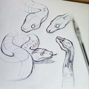 Snake Art Drawing Snake Art Drawing Illustrations Snake Art
