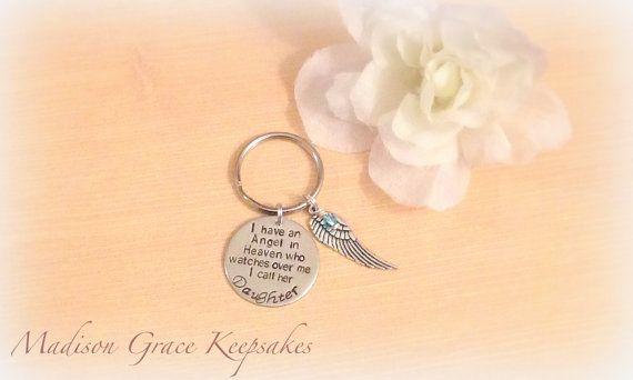 I have an Angel in Heaven Keychain  Angel by MadisonGraceKeepsake, $15.00