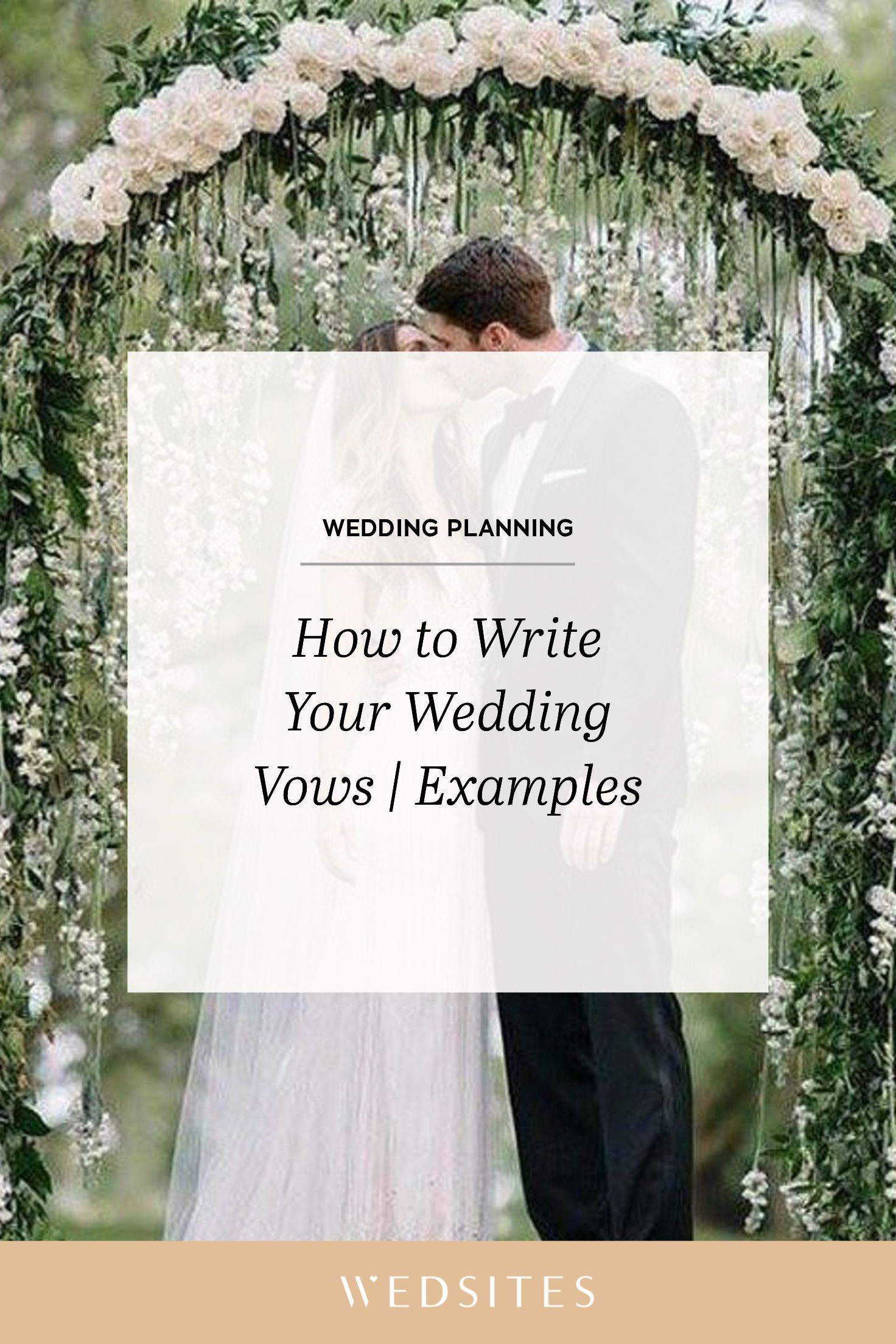How to Write Your Wedding Vows with Examples to be