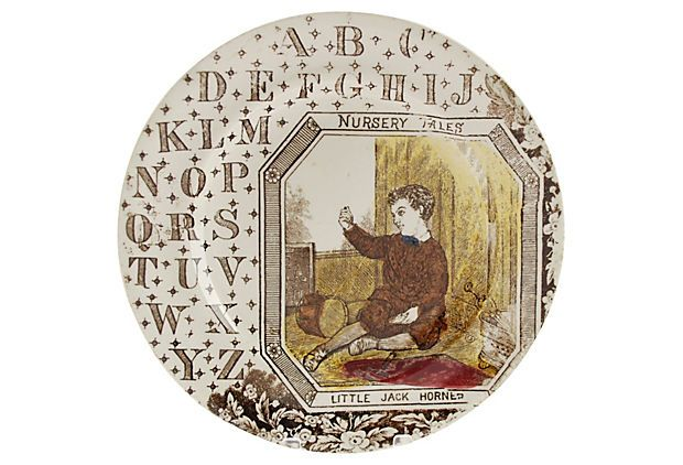 Jack Horner Staffordshire ABC Plate on OneKingsLane.com