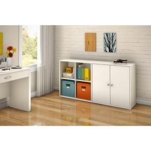 South Shore Stor It 4 Cubby Storage Unit With Doors In Pure White Discontinued 5050773 Storage Furniture Bedroom Cubby Storage Furniture