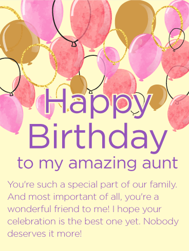 To My Amazing Aunt