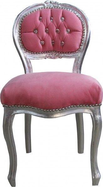 Casa Padrino Barock Damen Stuhl Rosa Silber Mit Bling Bling Glitzersteinen Schminktisch Stuhl Bild 1 Schminktisch Stuhl Schminktisch Stuhle