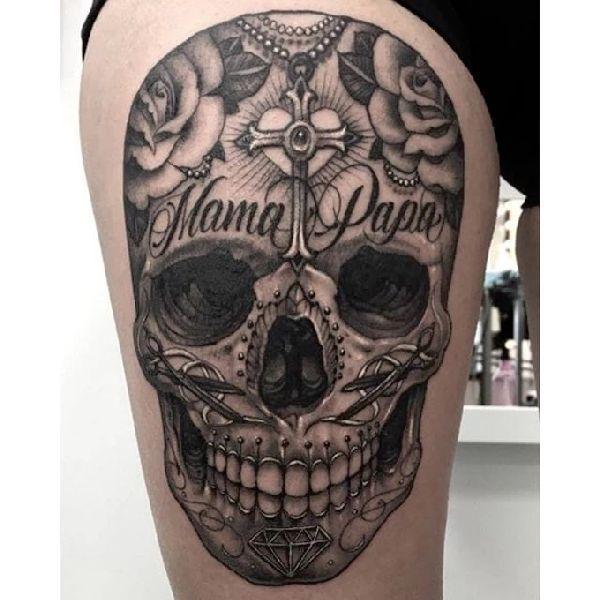 sugar skull tattoos my tattoos my body totenkopf. Black Bedroom Furniture Sets. Home Design Ideas