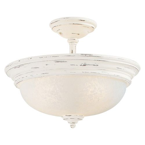 Append elegant look to your home by attaching accents provence three light provencal blanc semi flush mount from minka lavery