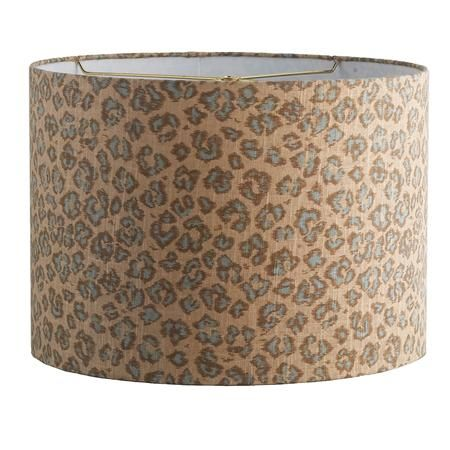 Leopard print drum lamp shade in 2 color choices my living room is 16 leopard print drum shade aloadofball Gallery