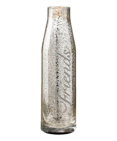 Only $14.99!! 'Friends' Glass Carafe #friends #silver #glass #carafe #wine #entertaining #gift #zulily #sale #zulilyfinds