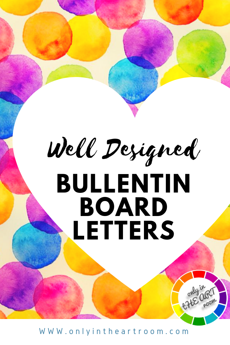 Colorful Watercolor Letters classroom decor | teaching