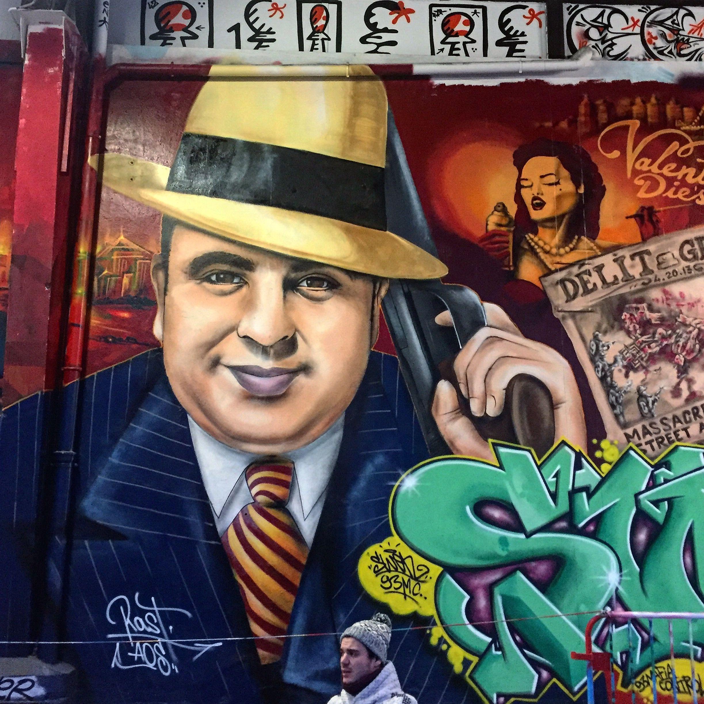 Al Capone Paris Street Art Graffiti Street Art Urban Street Art
