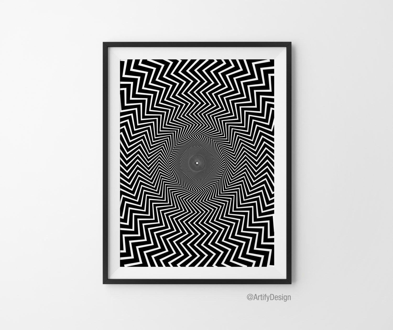 Optical illusion art abstract art geometric art black for Geometric illusion art