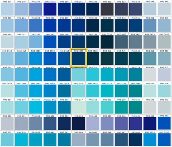 Diffe Shades Of Blue Colors Green Color Chart