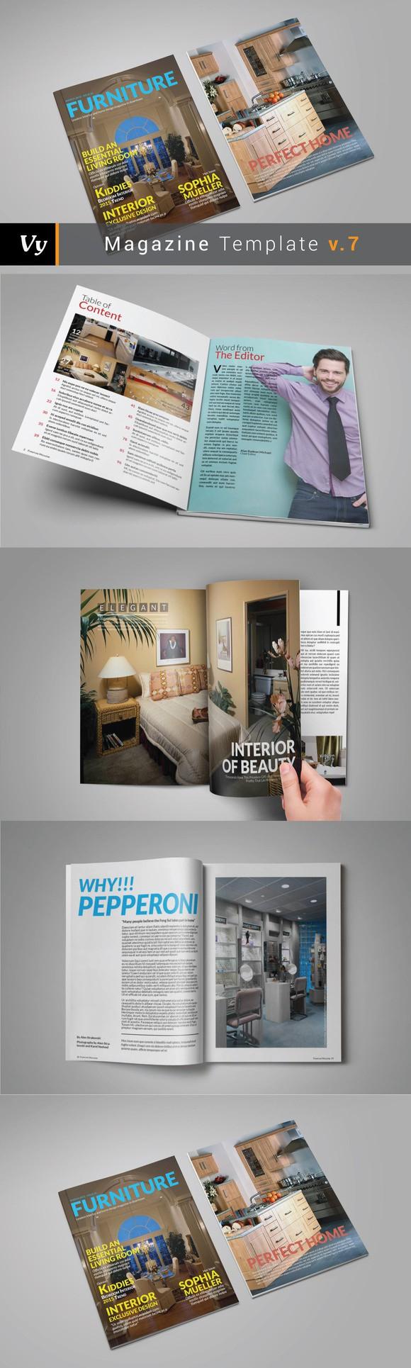 Furniture Magazine Template | Pinterest