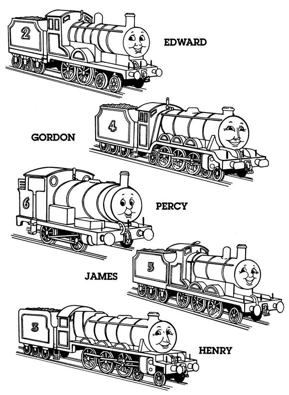 FREE 56 Different Coloring Pages You Can Print Out In Thomas Theme Plus Sooo