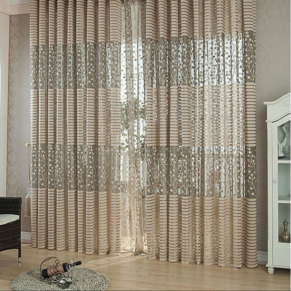 Luxurious Panel Sheer Curtain Hottest Tulle Door