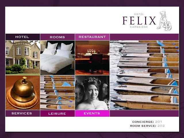 Hotel Felix Cambridge Web Tv With Images Restaurant Service