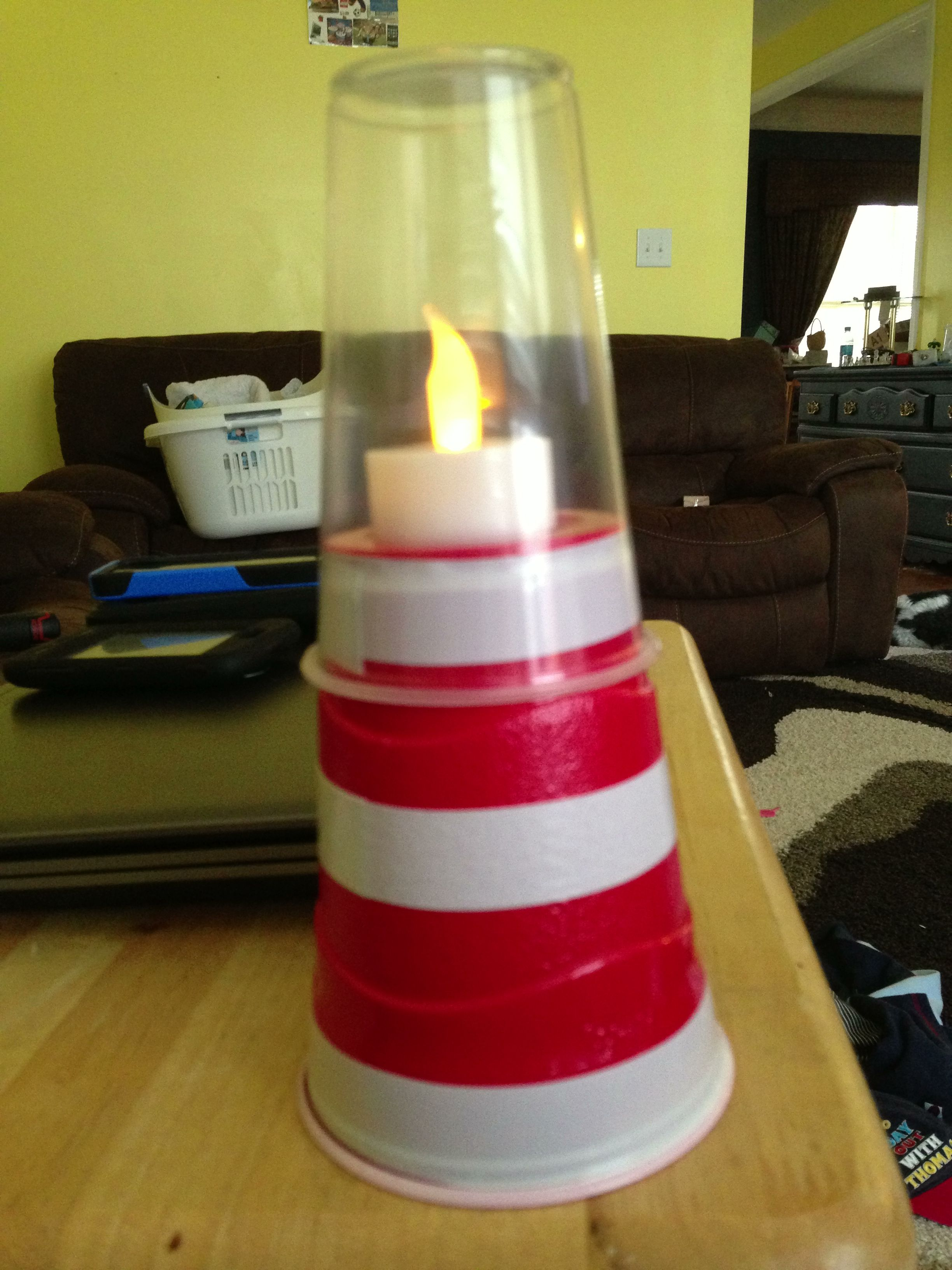 Check Out This Adorable Lighthouse Craft The Kids Did This Week At