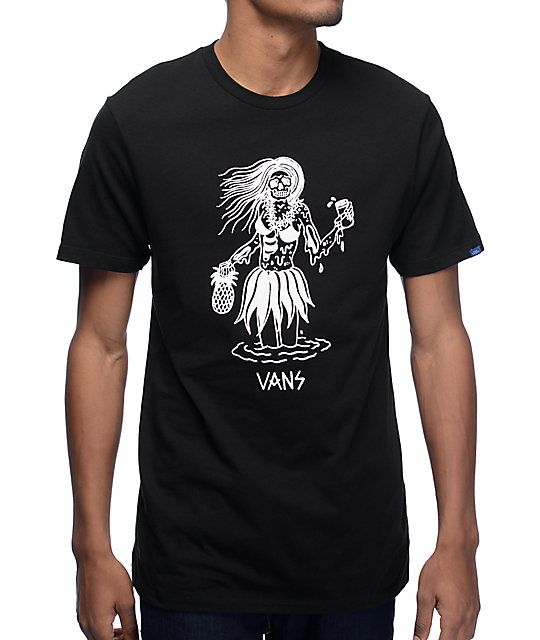 fd73e49afb4b Get a vacation look anywhere you go with the Luau Lady black t-shirt from
