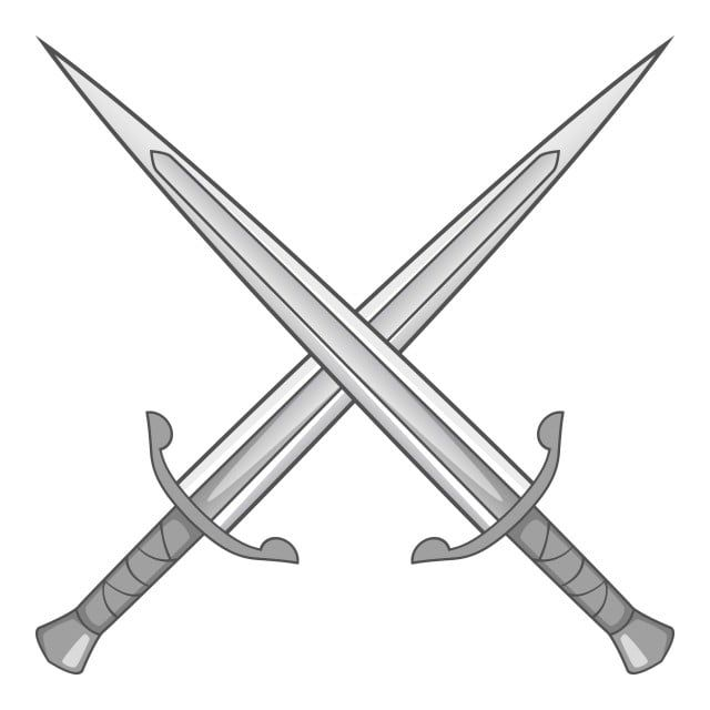 Two Crossed Swords Icon Gray Monochrome Two Crossed Swords Png And Vector With Transparent Background For Free Download Logo Design Art Monochrome Best Photo Background