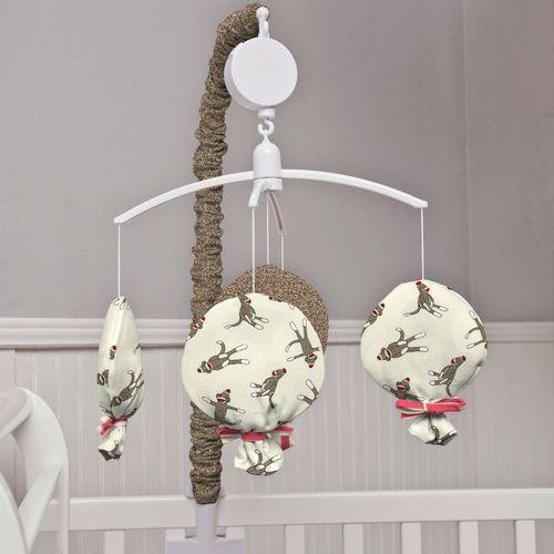 Sock Monkey Mobile Sock Monkey Musical Crib Mobile Carousel