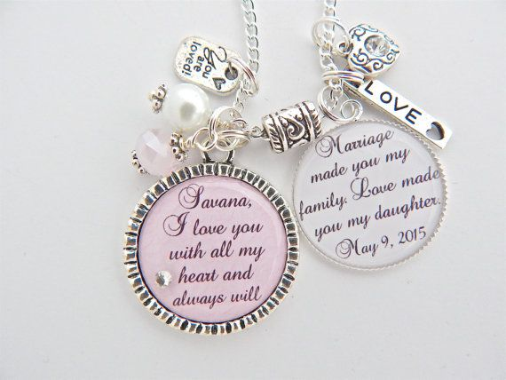 Wedding Ceremony Gift: BLENDED FAMILY Wedding STEPDAUGHTER Gift-Family Jewelry