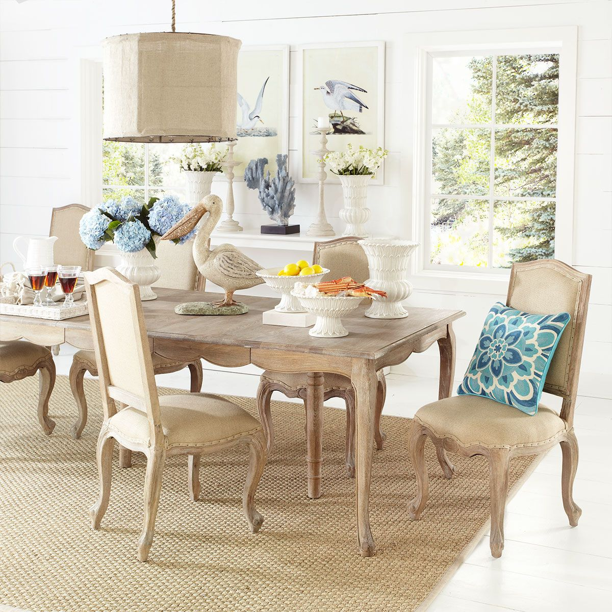 Wisteria Online W3819 French Country Dining Table With Leaves