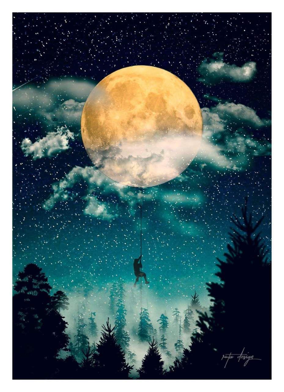 Man in a moon
