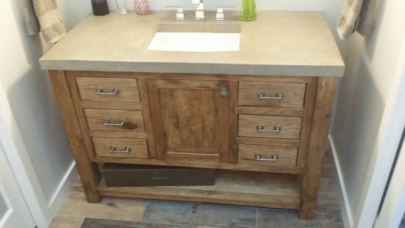 This Is A Custom Bathroom Vanity Built By Northeast Furniture Studio.  Constructed Of White Walnut