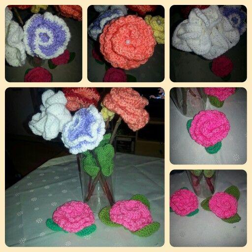 Blumen Gehäkelt äste Als Stiel Meine Hobbyarbeiten Pinterest