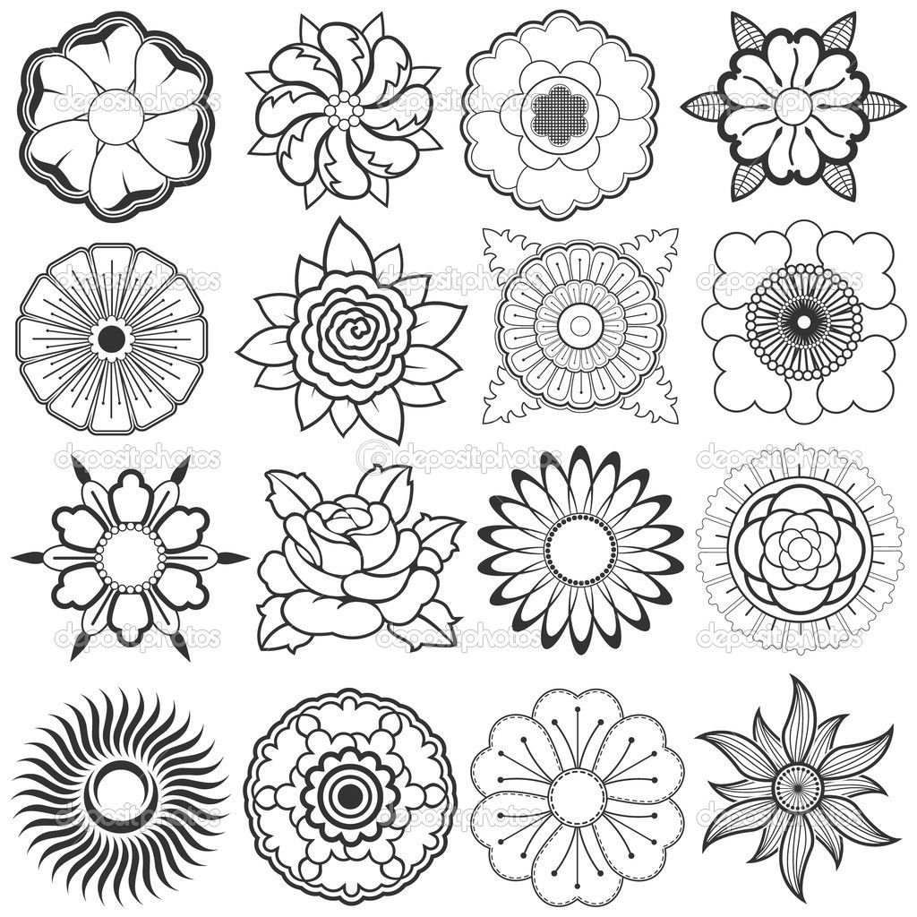 sketches of flowers HD...