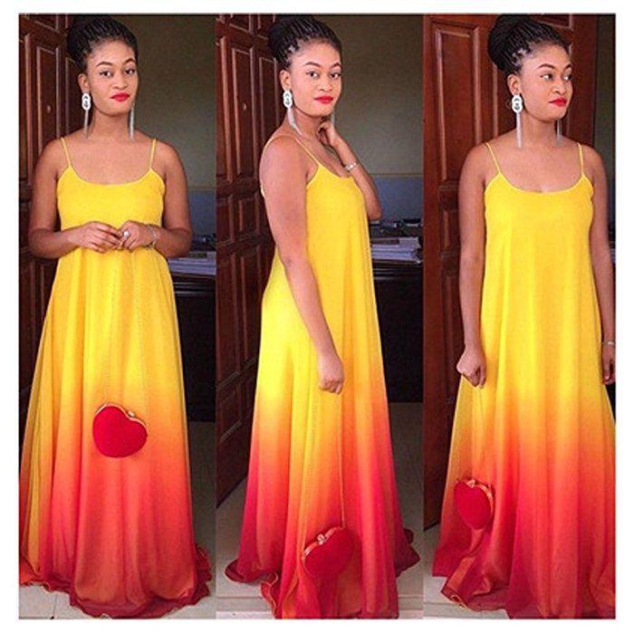 Women's Gradient Dress Plus Size Beach Maxi Party Dress