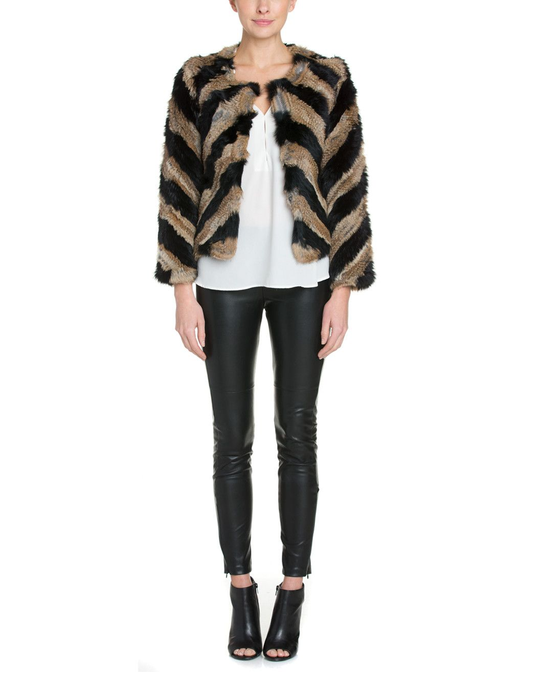 Spotted this Love Token Fiona Natural & Black Jacket  on Rue La La. Shop (quickly!).
