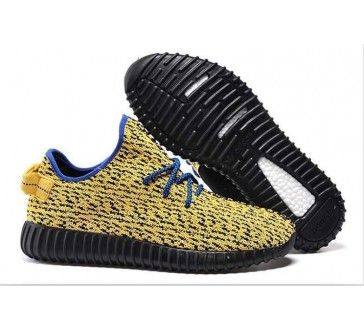 1fb85cf70 Fake Yeezy Boost Yellow Black Comfortable Dress Shoes for Men Women ...