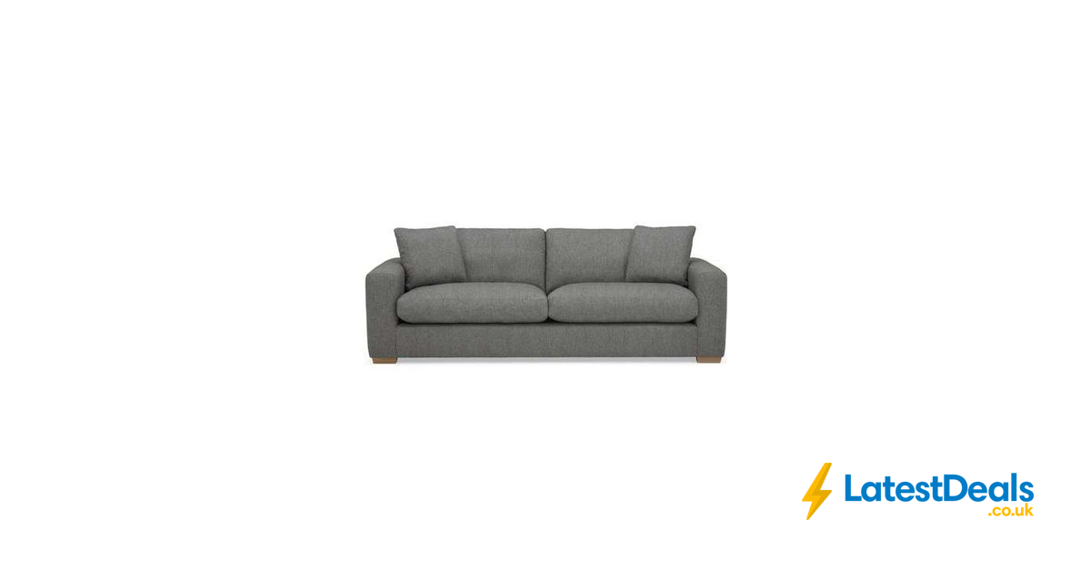 Porto Fabric 4 Seater Sofa Dark Grey 9 95 Delivery 455 20 At Dunelm With Images Seater Sofa Sofa Dunelm