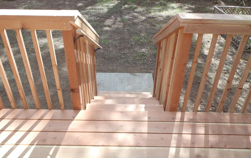 Best Redwood Deck Staircase Deck Deck Staircase Redwood Decking 400 x 300