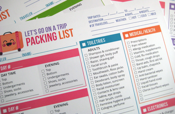 Free Packing List Template Lets Go On A Trip Printable By