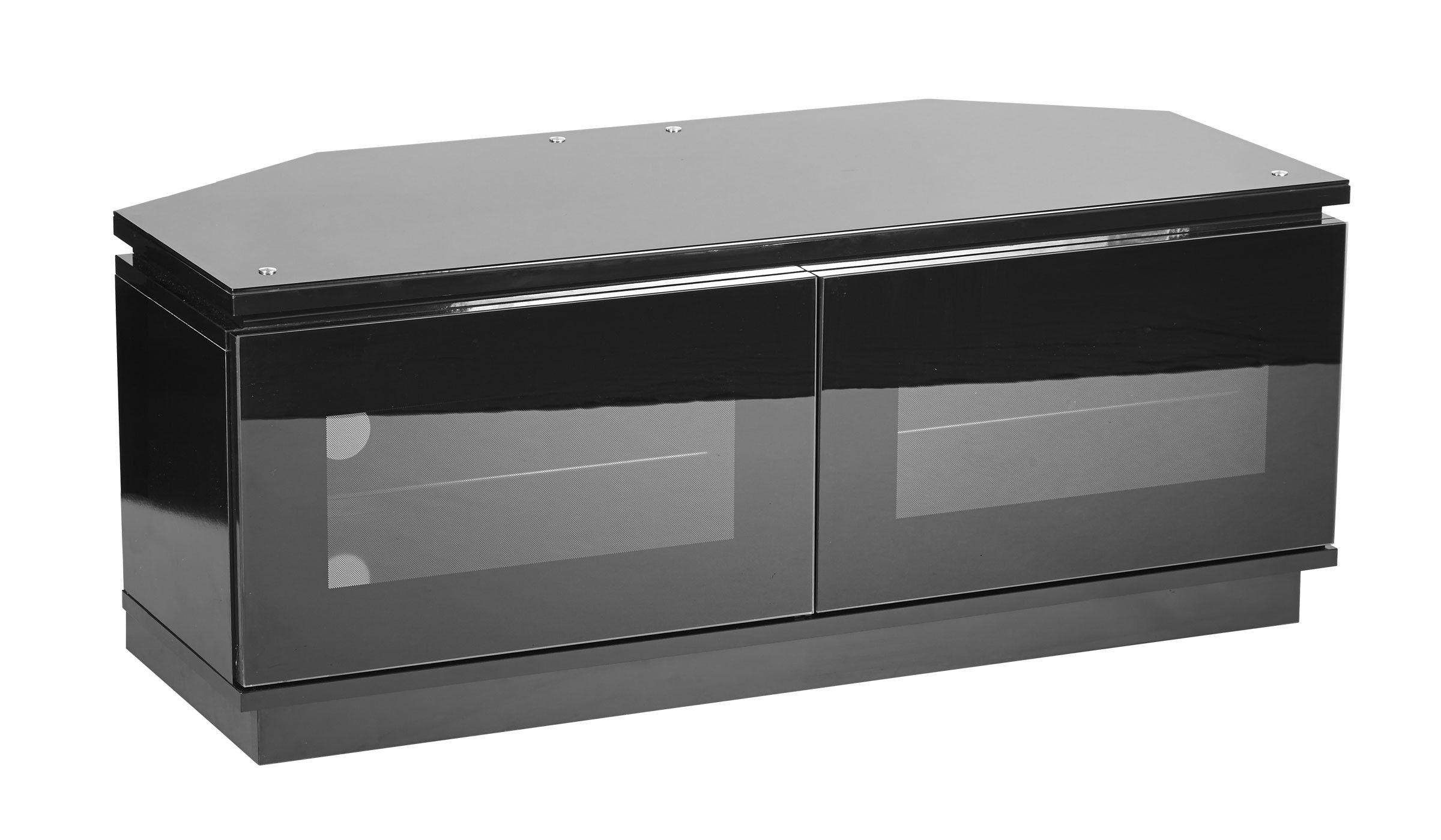 Black Corner TV Unit Up To 50 Inch Flat Screen TV | MMT DC1120