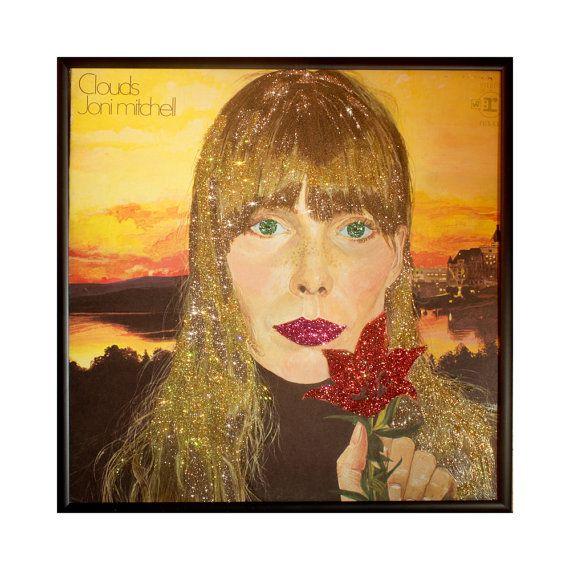 Glittered Rock n Roll Album Cover Wall Art