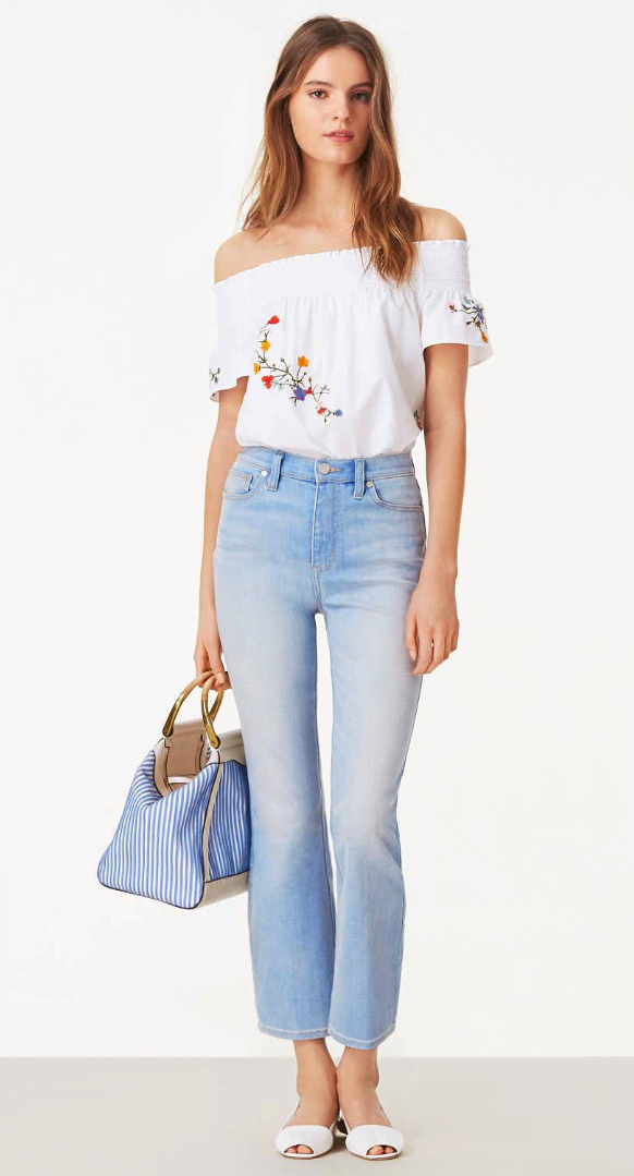 c8fcde02188 Tory Burch Stacey High-waist Cropped Flare Jean   she's in fashion ...
