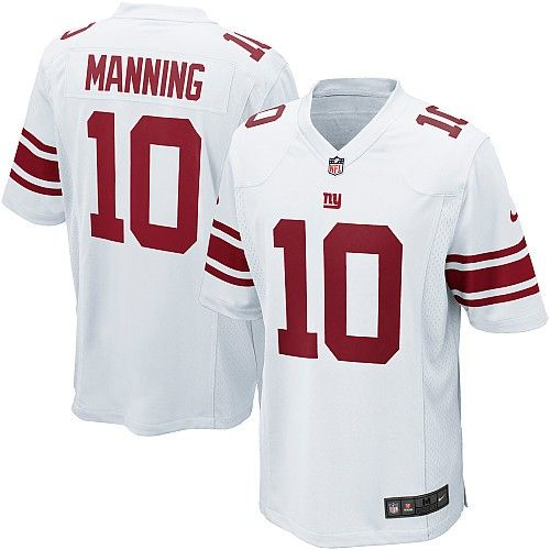 shop for officialnfl youth elite nike new york giants 10 eli manning white jersey. get same day ship