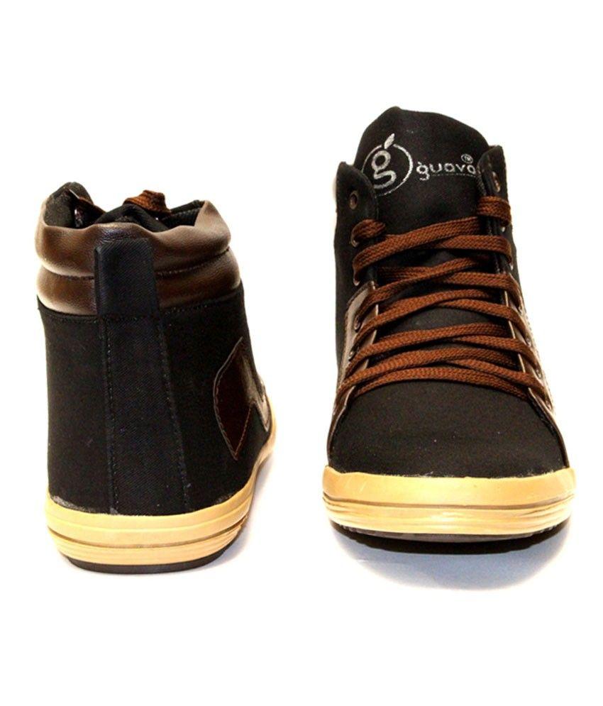 Guava Denim Sneakers - Black  Rs.849.00